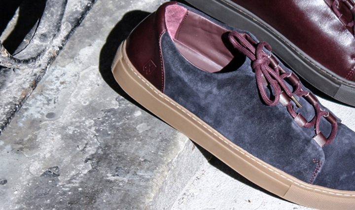 Noah Waxman American luxury shoemaker handmade suede Essex sneakers