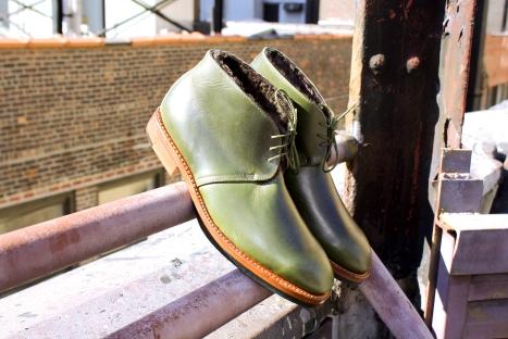 Noah Waxman American luxury shoemaker handmade Beacon boots shearling lining