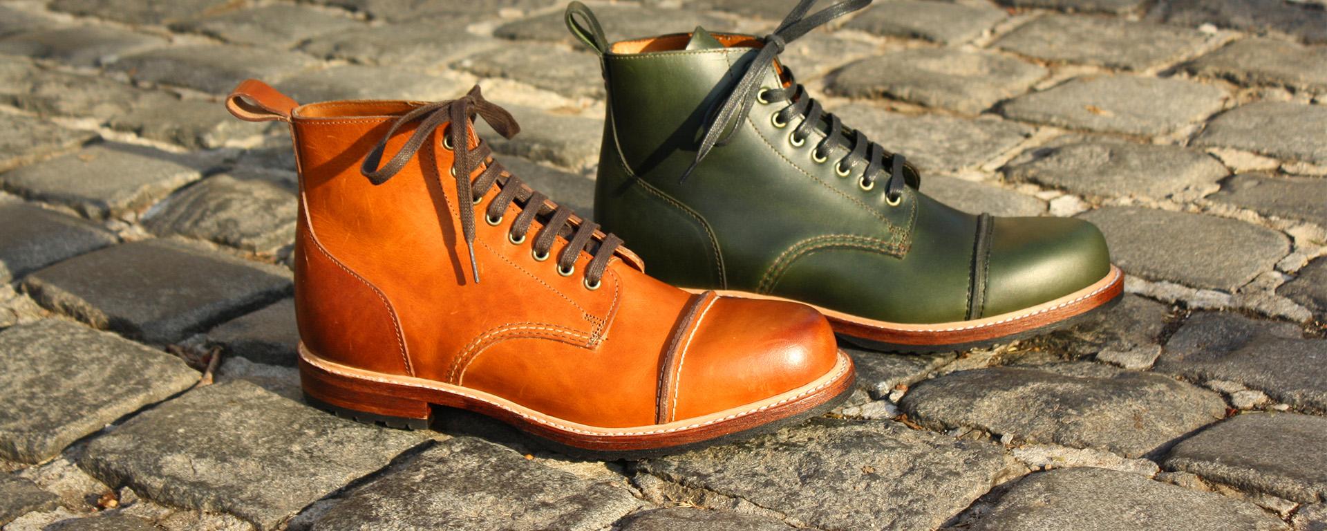 Noah Waxman American luxury shoemaker handmade Hudson boots
