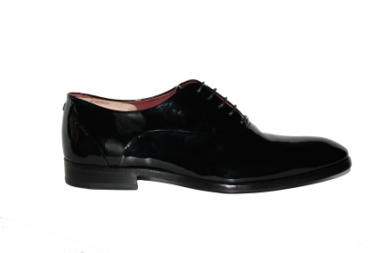 Noah Waxman American luxury shoemaker handmade patent leather Odeon dress shoes