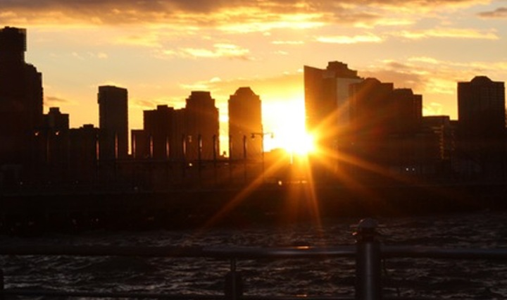 sunset nyc hudson river noah waxman