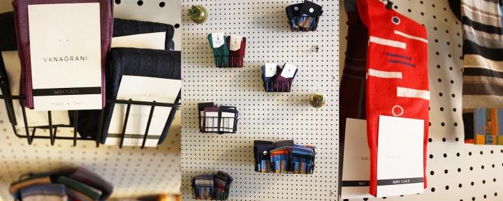 sock wall west village nyc noah waxman american luxury shoemaker