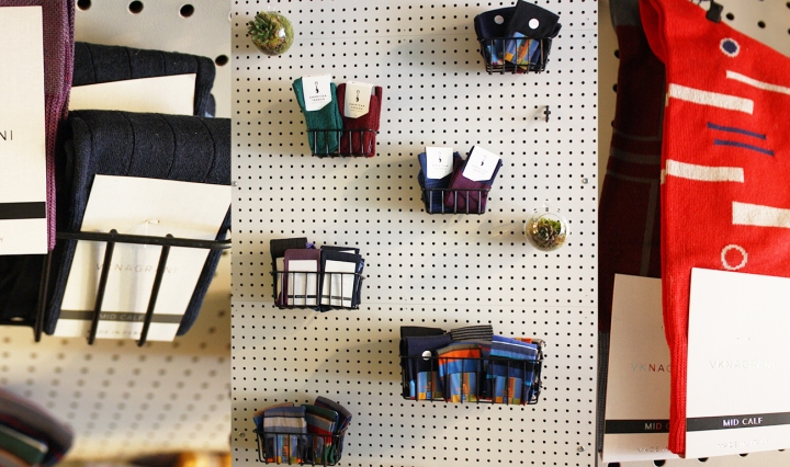 sock wall west village nyc noah waxman american luxury shoemaker