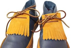 Noah Waxman American luxury shoemaker Hamilton kiltie sneaker pebble leather