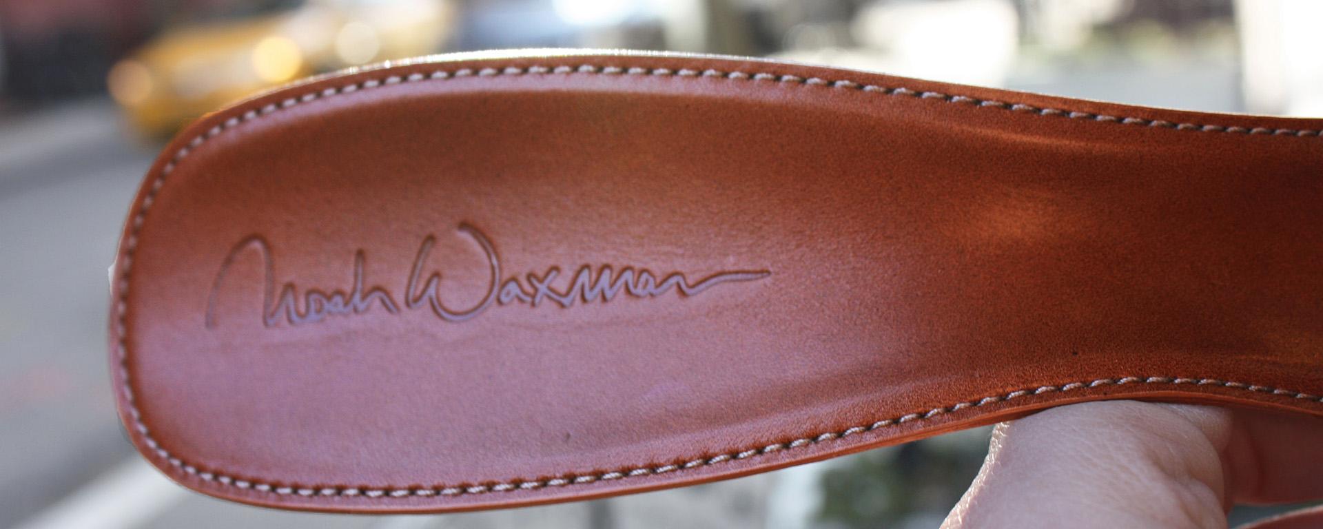 noah waxman American luxury shoemaker handmade leather shoehorn