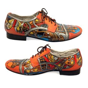 Modern hand-painted shoes